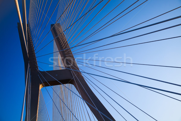Moderno ponte ponto de referência ver céu edifício Foto stock © JanPietruszka