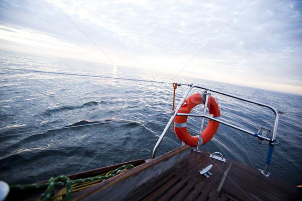 Nyáridő színes víz tenger óceán csónak Stock fotó © JanPietruszka