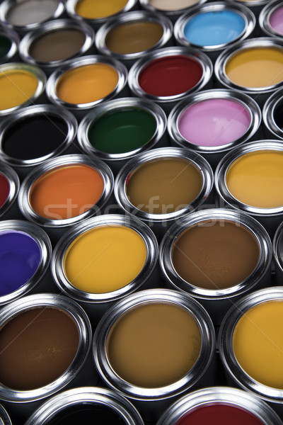 Background from multi color cans of paint Stock photo © JanPietruszka