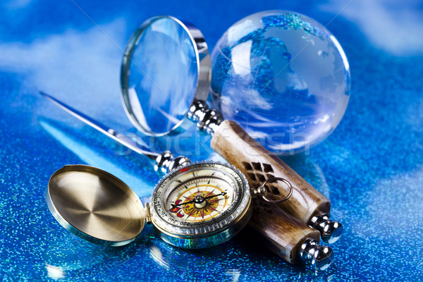 Magnifying glass and globe Stock photo © JanPietruszka