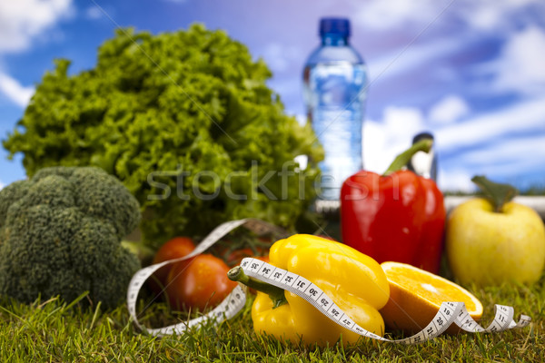 Diet and fitness, dumbell in vitamins  Stock photo © JanPietruszka