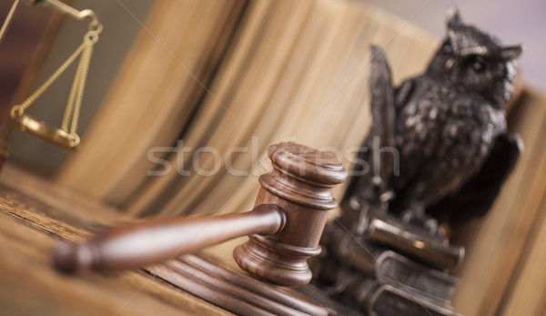 Judges wooden gavel, ambient light vivid theme Stock photo © JanPietruszka