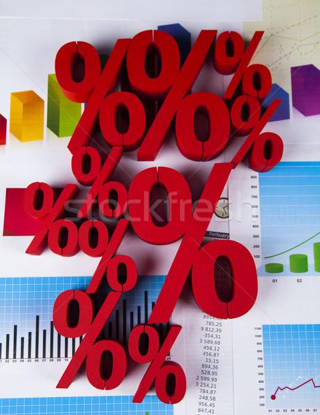 Percentuale sconto colorato segno rosso finanziare Foto d'archivio © JanPietruszka