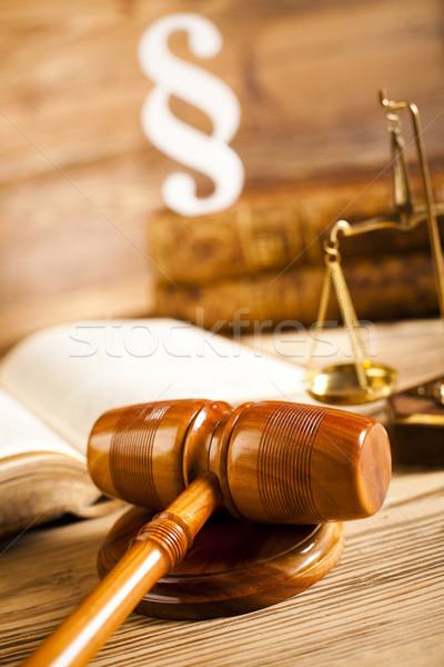Bois marteau justice paragraphe bois avocat Photo stock © JanPietruszka