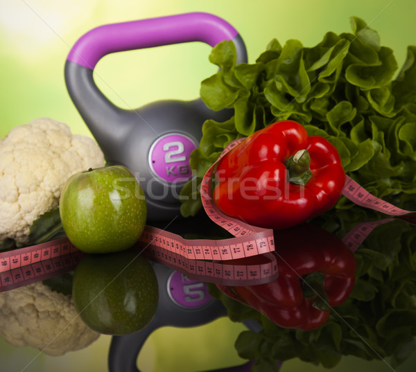 Healthy lifestyle concept, vitamins composition Stock photo © JanPietruszka