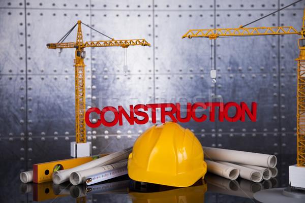 Grue blueprints affaires bâtiment Photo stock © JanPietruszka