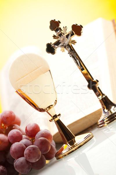 Stock fotó: Keresztény · szent · úrvacsora · fényes · Jézus · kenyér