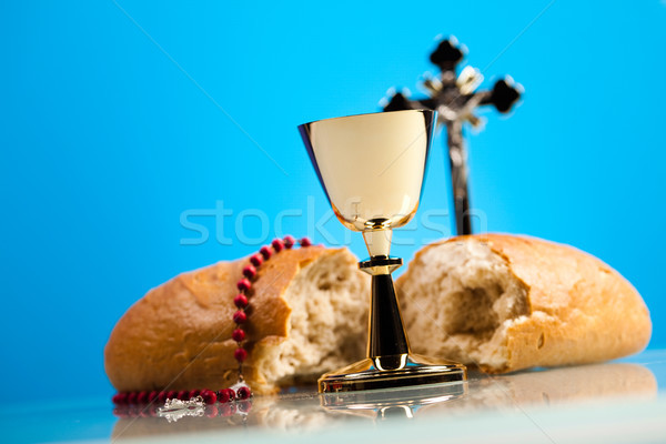 Christian communion lumineuses livre jesus Photo stock © JanPietruszka