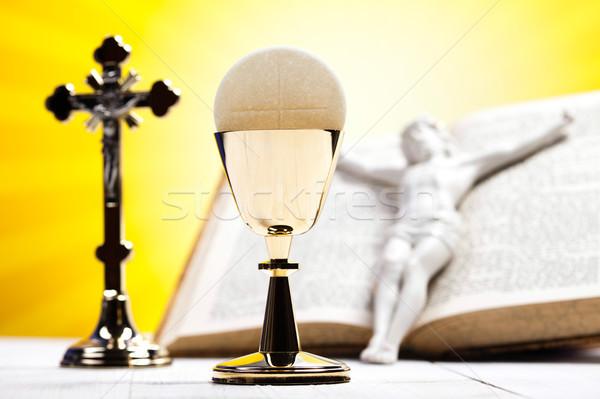 Christian comunione luminoso libro Gesù Foto d'archivio © JanPietruszka