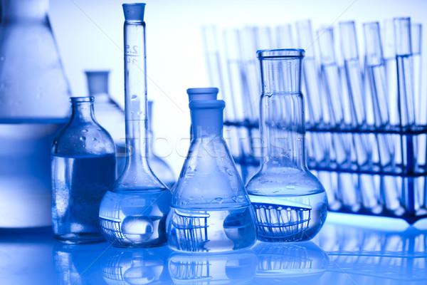 химии лаборатория изделия из стекла технологий здоровья синий Сток-фото © JanPietruszka