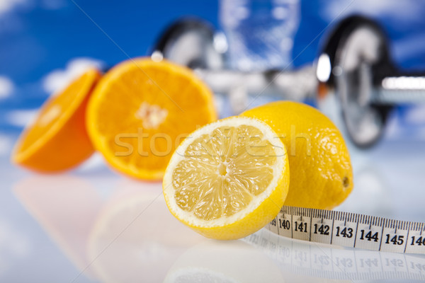 żywności pomiary fitness sportu energii tłuszczu Zdjęcia stock © JanPietruszka