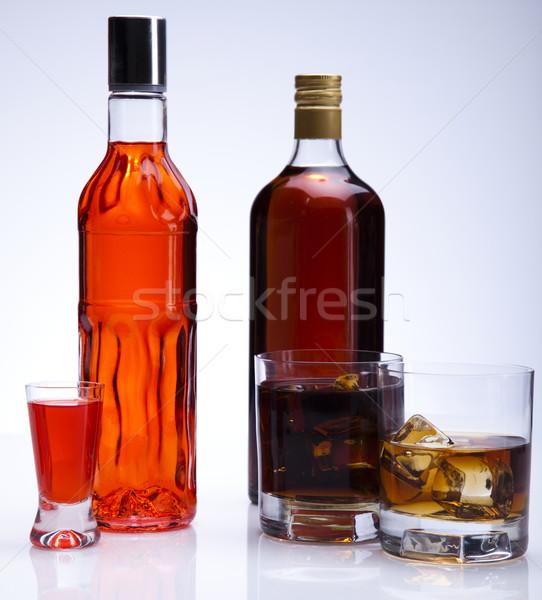 Alkohol buli gyümölcs étterem bár pihen Stock fotó © JanPietruszka