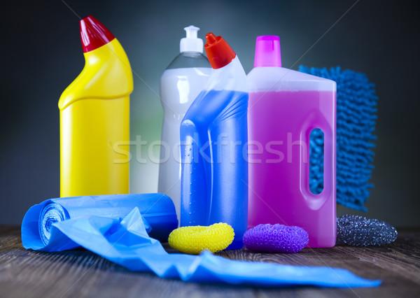 Schoonmaken uitrusting werk home fles dienst Stockfoto © JanPietruszka
