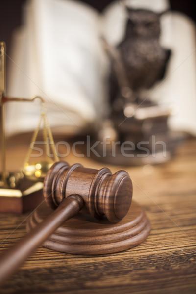 Marteau justice droit marteau tribunal juridiques Photo stock © JanPietruszka