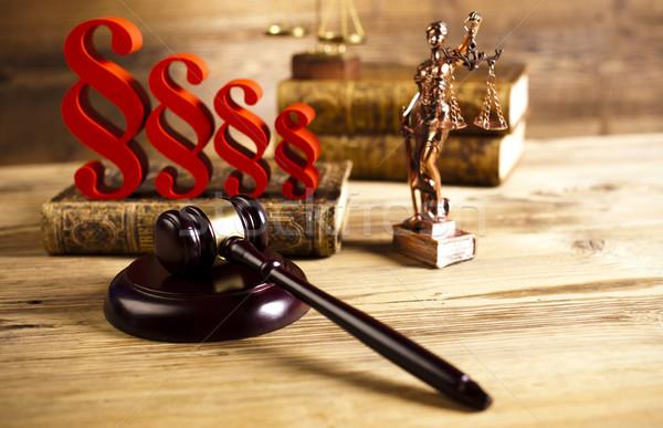 Bíró fából készült kalapács bekezdés fa igazság Stock fotó © JanPietruszka