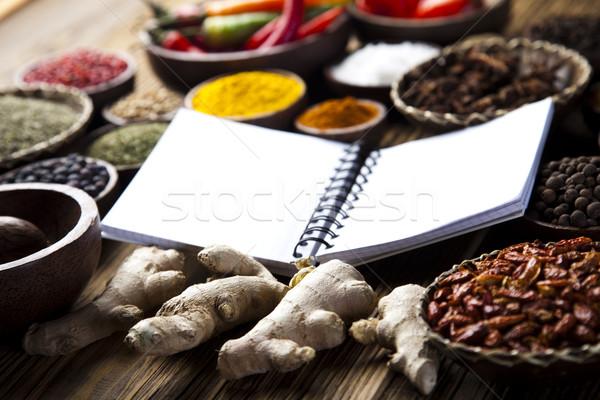 Libro de cocina especias cocina alimentos Foto stock © JanPietruszka