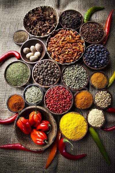 Exotic Spices, orintal cuisine vivid theme Stock photo © JanPietruszka