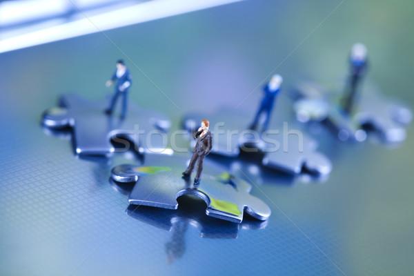 üzlet idő modern hálózat szimbólumok iroda Stock fotó © JanPietruszka