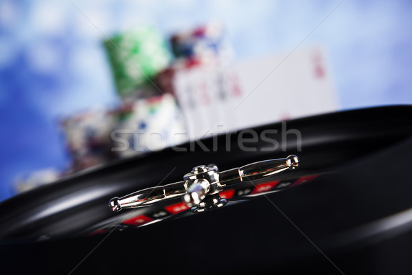 Casino ruleta jugando chips diversión Foto stock © JanPietruszka