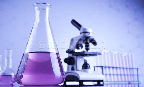 Kimya bilim laboratuvar züccaciye sağlık mavi Stok fotoğraf © JanPietruszka