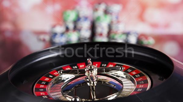 Roulette gokken casino tabel leuk zwarte Stockfoto © JanPietruszka
