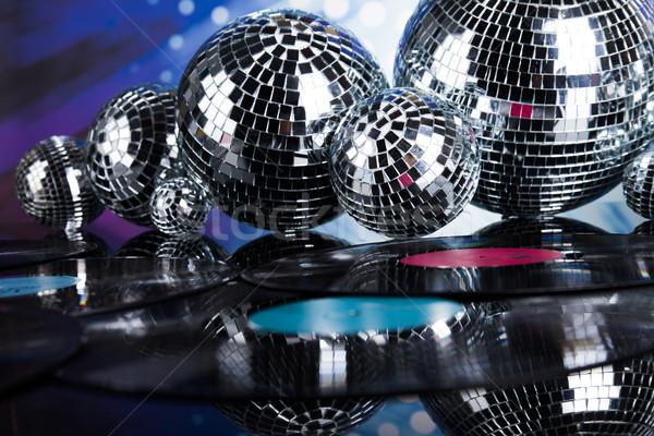 Disco Balls, sound waves and Music background Stock photo © JanPietruszka