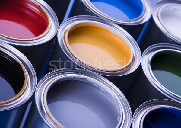 Bright Paint Cans Portrait