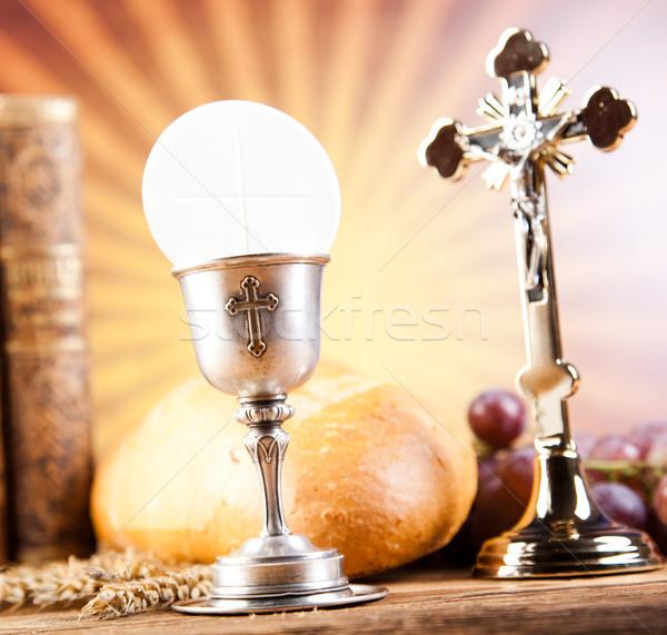 Comunione luminoso libro Gesù chiesa Foto d'archivio © JanPietruszka