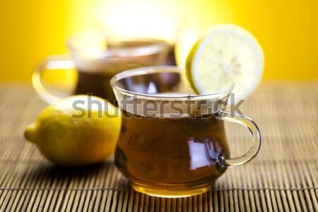 Verre tasse thé citron fleur médecine Photo stock © JanPietruszka