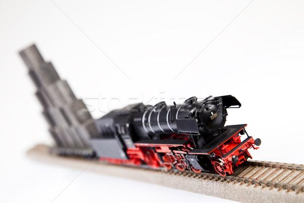 ストックフォト: 輸送 · 明るい · カラフル · おもちゃ · モデル · 列車