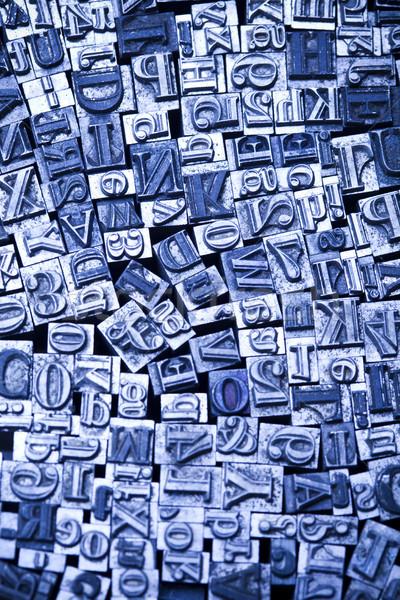 印刷 手紙 孤立した 明るい 色 通信 ストックフォト © JanPietruszka