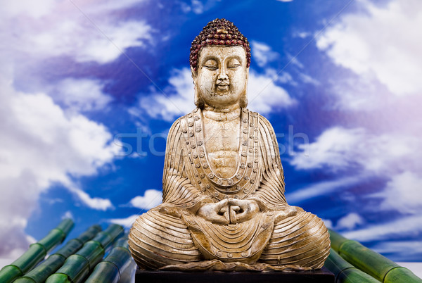 Buddha zen soleil fumée détendre culte Photo stock © JanPietruszka