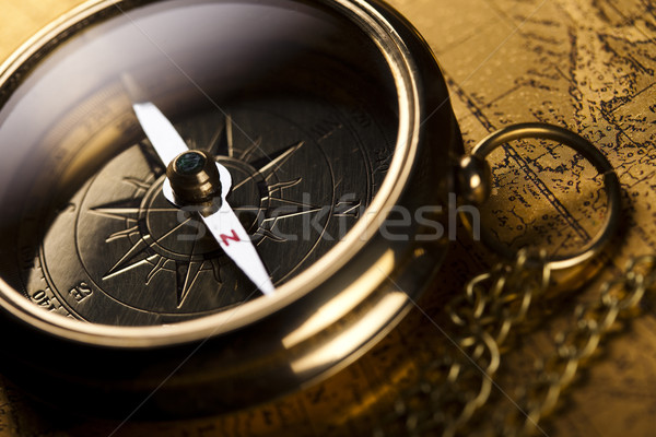 Stock photo: Travelling, Compass