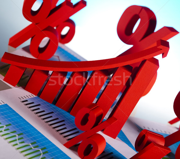 üzleti grafikon felirat pénzügy grafikon diagram stock Stock fotó © JanPietruszka