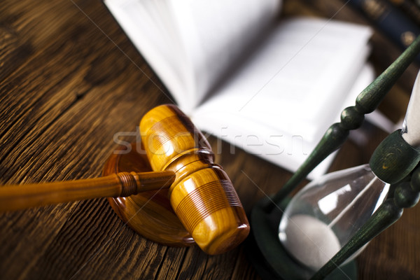 Judges wooden gavel Stock photo © JanPietruszka