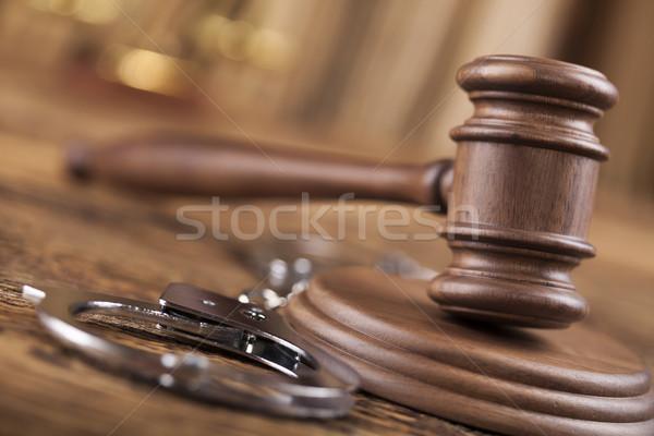 Hukuk yargıç ahşap tokmak adalet çekiç Stok fotoğraf © JanPietruszka