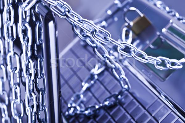 Network security conception, modern network symbols concept Stock photo © JanPietruszka