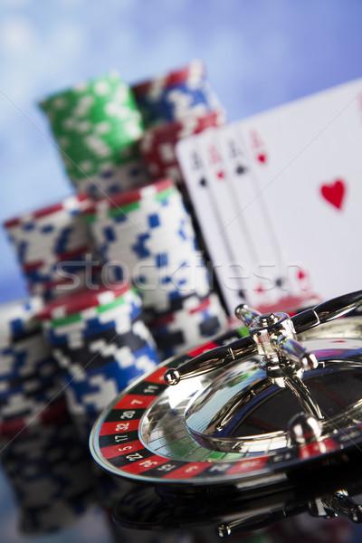 Kaszinó rulett játszik sültkrumpli jókedv fekete Stock fotó © JanPietruszka