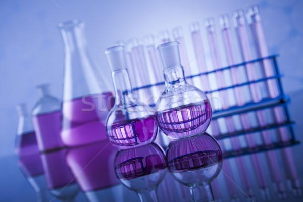 Chimica scienza laboratorio cristalleria salute blu Foto d'archivio © JanPietruszka