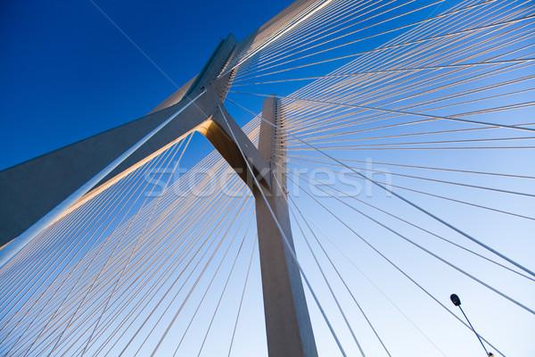 Moderno ponte punto di riferimento view cielo costruzione Foto d'archivio © JanPietruszka