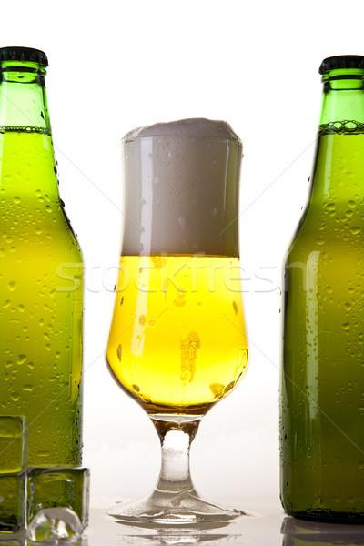Still life with beer, bright vibrant alcohol theme Stock photo © JanPietruszka
