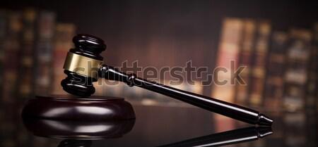 Law books, Paragraph justice concept, Court gavel Stock photo © JanPietruszka