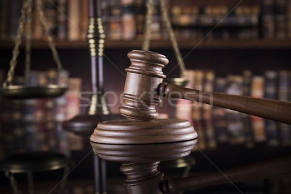 Hukuk yargıç adalet ölçek ayna yansıma Stok fotoğraf © JanPietruszka