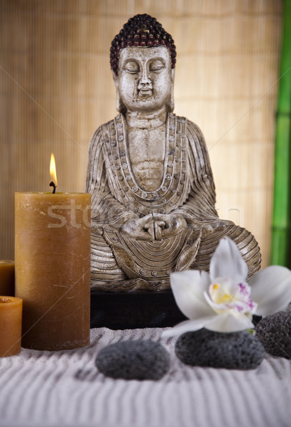 Buddha zen sole fumo relax culto Foto d'archivio © JanPietruszka