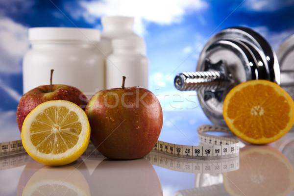 Kiegészítő diéta sport fitnessz egészség gyógyszer Stock fotó © JanPietruszka