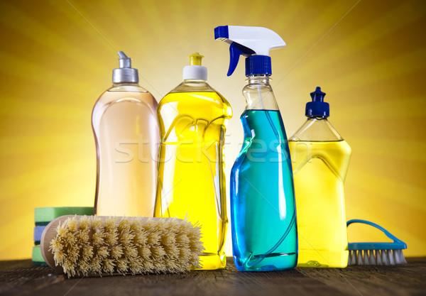 чистящие средства Sunshine работу домой бутылку службе Сток-фото © JanPietruszka