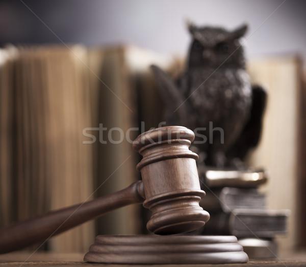 Legge giustizia giuridica codice martello giudice Foto d'archivio © JanPietruszka