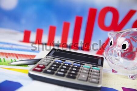 Zniżka procent podpisania czerwony finansów sukces Zdjęcia stock © JanPietruszka