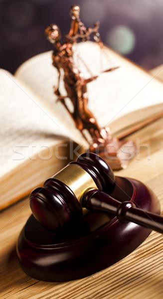 Lei justiça parágrafo balança madeira advogado Foto stock © JanPietruszka