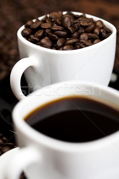 カップ 豆 コーヒー 白 テクスチャ 食品 ストックフォト © JanPietruszka